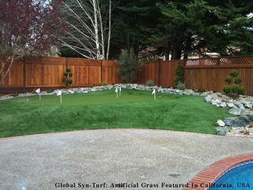 Artificial Grass Photos: Artificial Grass Installation Grayson, California Backyard Putting Green, Backyard Design